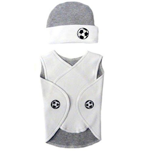 Jacqui's Baby Boys' Soccer Champ NICU Snuggler Wrap, Micro ()
