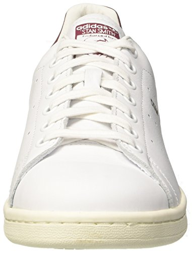 Scarpe Basse Adidas Unisex Sneak Cq2195 Stan Smith Bianco / Bordeaux