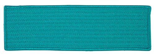 Simply Home Solid Stair Tread, Turquoise (Turquoise Stair Carpet)