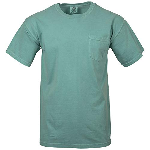 Comfort Colors Men's Adult Short Sleeve Pocket Tee, Style 6030, Sea Foam, Large from Comfort Colors