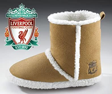 2da18487fb3 Liverpool FC Official Girls Brown Boots Slippers Size 1 2  Amazon.co.uk   Shoes   Bags