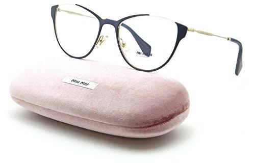 Miu Miu 51OV Women Cat-eye Metal Eyeglasses Blue Frame UE6/1O1, 53mm by Miu Miu