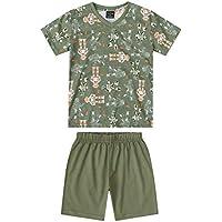 ea3c0b9878 Pijama Camiseta E Bermuda Em Meia Malha Pais E Filhos Quimby