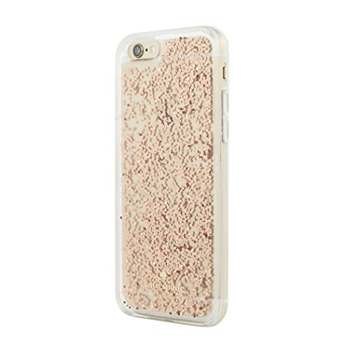 kate spade new york iPhone 6s Case [Shock Absorbing] Cover fits both iPhone 6, iPhone 6s - Rose Gold Glitter