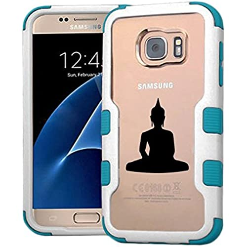 Galaxy S7 Case Buddha, Extra Shock-Absorb Clear back panel + Engineered TPU bumper 3 layer protection for Samsung Galaxy S7 (New 2016) Blue Cover (Buddha Sales