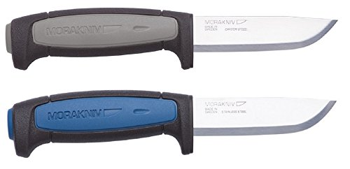 Bundle - 2 Items: Morakniv Craft Robust Carbon Steel Knife and Morakniv Craft Pro S Stainless Steel Knife by Morakniv