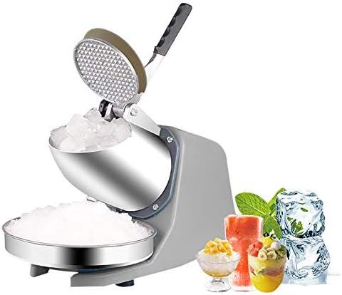 ice crusher Ice Shaver Machine Elektrischer Schneekegelhersteller, Doppelmesser-Design Mit Einstellbarer Dicke Eisbrecher 187 Lb/H Für Den Privaten Und Gewerblichen Gebrauch