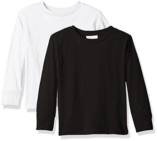 Clementine Unisex Baby Boy Everyday Short Sleeve Toddler T-Shirts Crew 2-Pack, White/Ash Grey 2T -