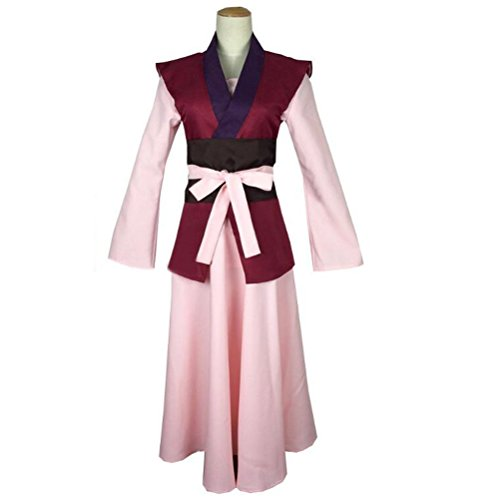 Poetic Walk Akatsuki No Yona Yona Suit Cosplay Costume Outfit (Large, Pink)
