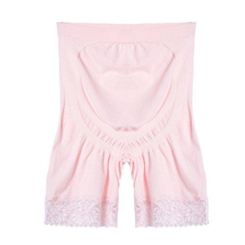 Modal Boyshort Panties (Cnhw Women's Lace Seamless High Stretch Maternity Underwear Support Boyshort Panty Pink)