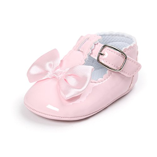 Image of BENHERO Baby Girls Soft Sole Bowknot Mary Jane Princess Shoes (Infant)