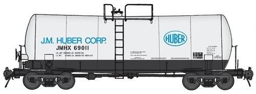 40' UTLX 16,000-Gallon Funnel-Flow Tank Car - Ready to Run -- J. M. Huber #69011 (white, black, - Gallon 16000 Run Funnel