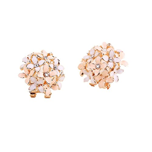 Clover Ear Cuff - UNKE Lady Vogue Four Leaves Clover Ear Cuffs Stud Earring ,Pink