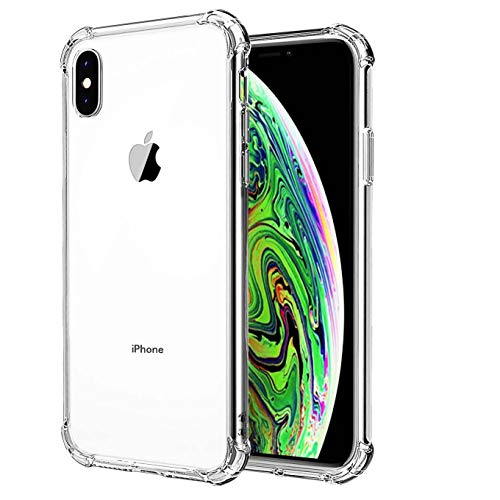 iEugen Case,Compatible with iPhone Xs/X Case,[Shock Absorption][Crystal Clear] Soft TPU Bumper Slim Protective Cover Scratch-Resistant with 4 Corners Protection for Apple iPhone Xs/X 5.8 inch Phone