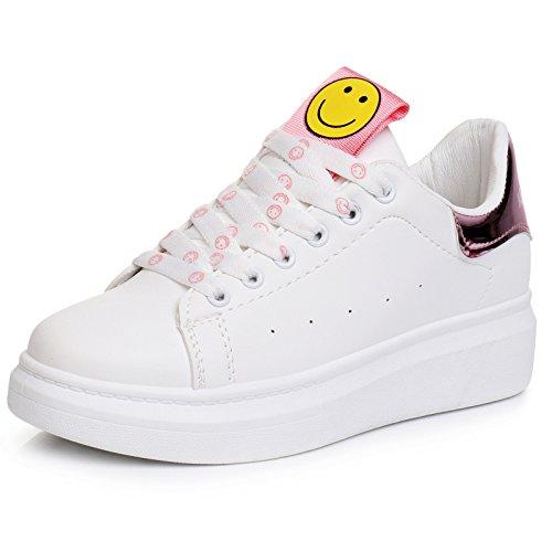 Prendedor Estudiantes Espesor Zapatos Zapatos Cordones rosa Zapatos Basados de Zapatillas Mujer Mujer Individuales Planos Tableros Deporte Bottom Verano GTVERNH Casual UIXqw