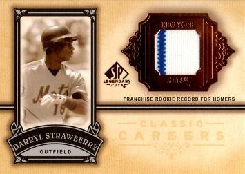 2005 Upper Deck SP Legendary Cuts Classic Careers Relics #CC-DS Darryl Strawberry Game Worn Jersey Baseball Card