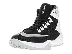 Nike Men's Zoom Devosion Basketball Shoe Blackmetallic Silverwhite Size 8 M Us