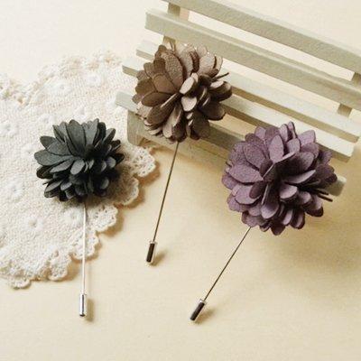 Three-dimensional petal flower brooch Korean female corsage 4-color word ()