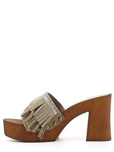mujer zapato de cuero Café Noir ONC603 Taupe