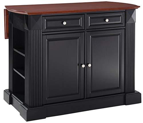 - Crosley Furniture KF30007BK Drop Leaf Kitchen Island/Breakfast Bar, Black