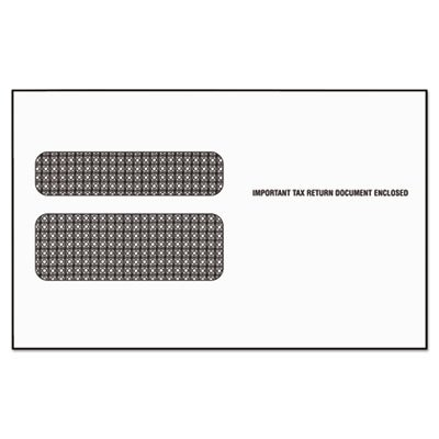 Double Window Tax Form Envelope/Continuous W-2 Forms,9x5-5/8,24/Pack ()