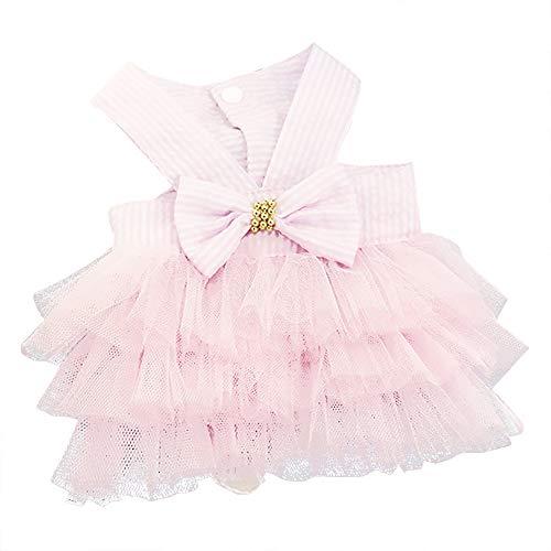 ❤️Ywoow❤️❤️ , Bubble Skirt Stripe Lace Dress Dog Dress Princess Dresses for Dog -