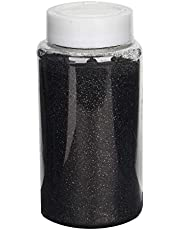 Tableclothsfactory 1 Pound Black DIY Art & Craft Glitter Extra Fine with Shaker Bottle for Wedding Party Event Table Centerpieces Decor