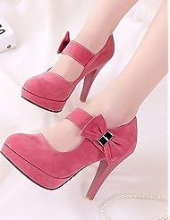 Women's Shoes Heel Heels / Platform Sandals / Heels Office & Career / Dress / Casual Black / Pink / Almond / 168-2