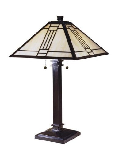 Dale Tiffany TT100015 Noir Mission Table Lamp, 26.5