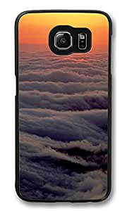 VUTTOO Rugged Samsung Galaxy S6 Edge Case, Cloud Waves Sunset Polycarbonate Plastic Case Back Cover for Samsung Galaxy S6 Edge PC Black