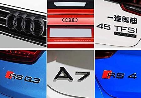 L/&U Nastro ABS Auto Tronco Porta Fender paraurti del Distintivo dellemblema della Decalcomania Autoadesivo Adesivo per Audi,A3