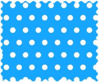 product image for SheetWorld 100% Cotton Percale Fabric by The Yard, Polka Dots Turquoise, 36 x 44