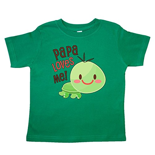 inktastic - Papa Loves Me- Cute Turtle Toddler T-Shirt 4T Kelly Green 30ae4