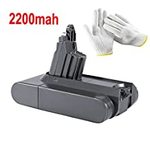 22.2V 2200mAh Vacuum Cleaner Battery Pack Replace for Dyson V6 DC58 DC59 DC61 DC62 595 650 770 880 Animal 965874-02