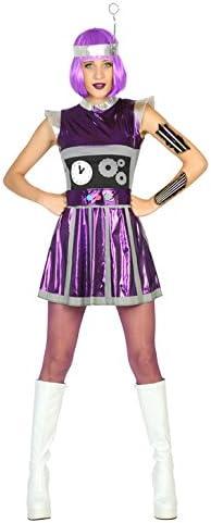 Atosa- Disfraz mujer robot del espacio, Color violeta, M-L (17193 ...
