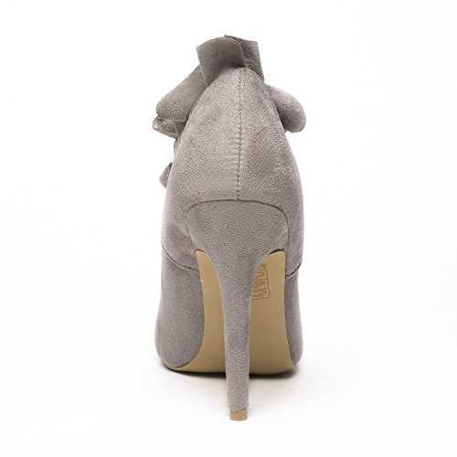Ideal Shoes, Damen Pumps Grau