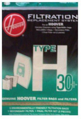 Hoover 40101001 Vacuum Bag and Filter Set, Type H-30 Genuine Original Equipment Manufacturer (OEM) Part for ()