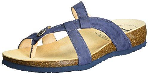 Think! Women's Julia Flip Flops, White, 8 UK Blue (Jeans/Kombi 84)