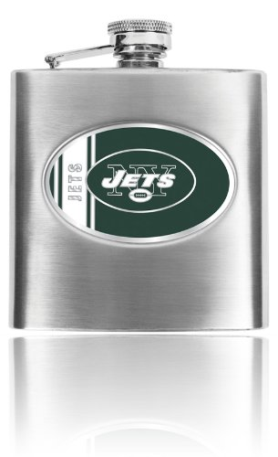 Great American Products Personalized NFL New York Jets 8oz stainless steel Flask- Free Engraving -