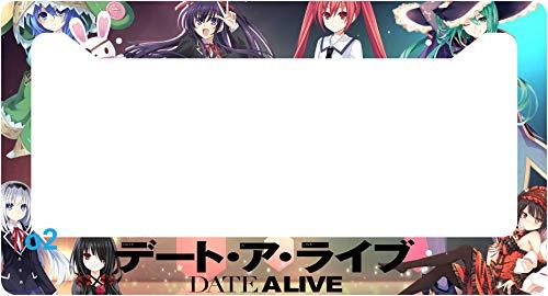 Date A Live Manga Anime Pop Auto Car Frame Collage License Plate Frame Aluminum (B) (Anime License Plate)