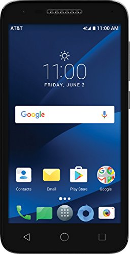 AT&T Prepaid Alcatel idealXCITE 6030B 5 Android 7.0 Smartphone Cell Phone, 8GB, Black
