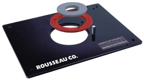 Rousseau 3509 9-Inch x 12-Inch x 3/8-Inch Deluxe Router Base Plate by (Rousseau Router Table)