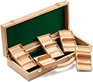 GSE Games & Sports Expert 300/500 Capacity Premium Solid Wood Poker Chip Case ONLY. Casino Wooden Poker Ch