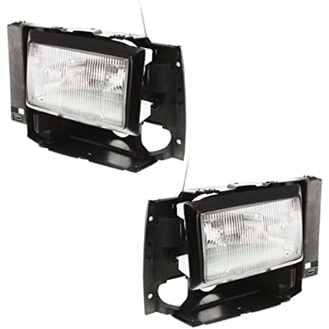 1989-1990 Ford Bronco II, 1991-1994 Explorer & 1989-1992 Ranger Pickup Truck Headlight Headlamp Head Light Lamp Pair Set: Left Driver AND Right Passenger Side (1989 89 1990 90 1991 91 1992 92 1993 93 1994 - 89 Passenger Side Bracket