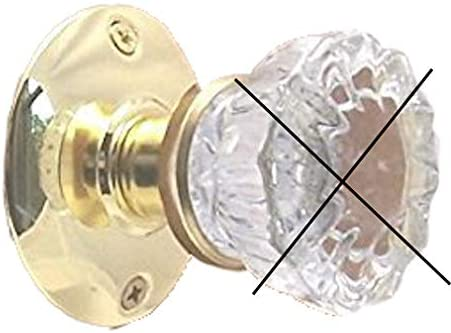 Retrofit Kit-fit Antique Knobs in Modern drilled Doors Privacy Antique Brass