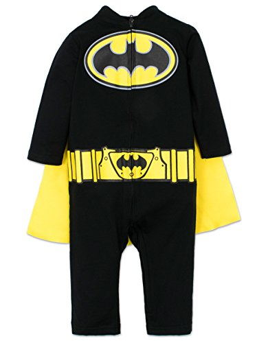 Infant Bat Costumes (Baby Boys' Batman Costume Coverall with Cape, 18 Months)