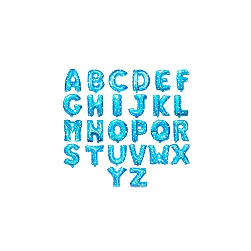 (16 Inch Inflatable Letter Balloon Balloon Foil Wedding Birthday Party Decoration Balon Colorful Balloons Letter Balloon,Blue,I,16inch)