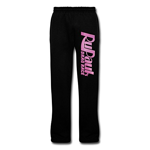 Series Race Pants (Lioptryu Men's RuPaul's Drag Race Television Series Bottom Sweatpants With Pocket 3X Black)