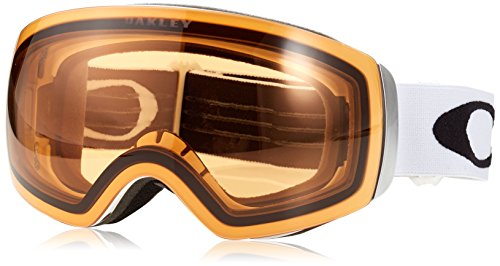 Oakley Flight Deck XM Snow Goggles, Matte White, Prizm Hi Pink, - Eyewear Mount Rimless
