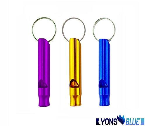 UPC 885688144952, LyonsBlue Emergency Survival Whistle Mini Aluminum Whistle With Key Chain - Purple